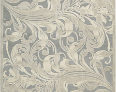 """Nourison Graphic Illusions 7'9"""" x 10'10"""" Gray, Camel Rug contemporary-rugs"""