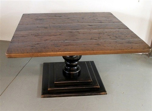 Square Dining Table From Reclaimed Old Barn Wood Country