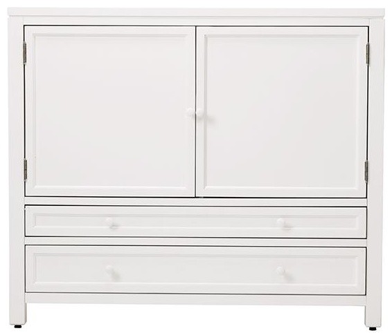 Martha Stewart Living Craft Space Storage Cabinet, Picket Fence - Transitional - Storage ...