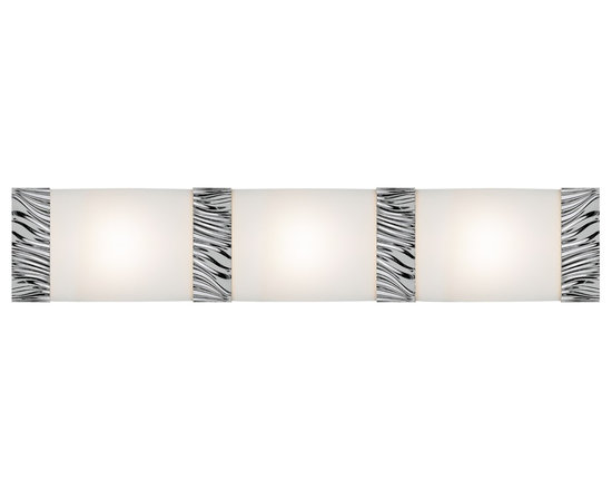 Kinze Vanity Light - The Kinze Light comes in chrome, as shown, gunmetal and satin nickel with white glass.