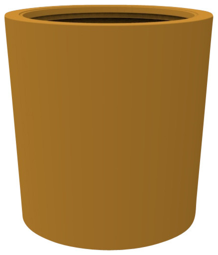 Large Vienna Planter, Spanish Gold contemporary-outdoor-pots-and-planters