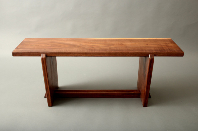 Japanese Style Gallery Entry Walnut Bench Metropolitan Museum Of Art Midcentury Indoor