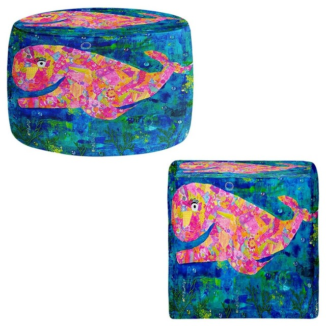 Ottoman Foot Stool by Michele Fauss - Wilma the Whale contemporary-footstools-and-ottomans