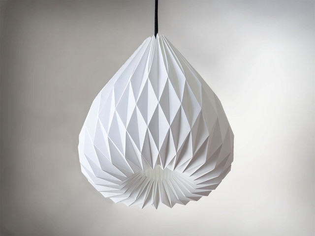 snowdrop origami lampenschirm von werkdepot contemporary pendant lighting by etsy. Black Bedroom Furniture Sets. Home Design Ideas