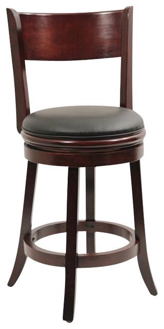 "Boraam Palmetto 24"" Swivel Counter Stool in English Tudor transitional-bar-stools-and-counter-stools"