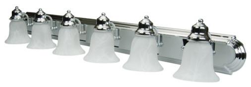 Racetrack Chrome Vanity Lights traditional-bathroom-lighting-and-vanity-lighting