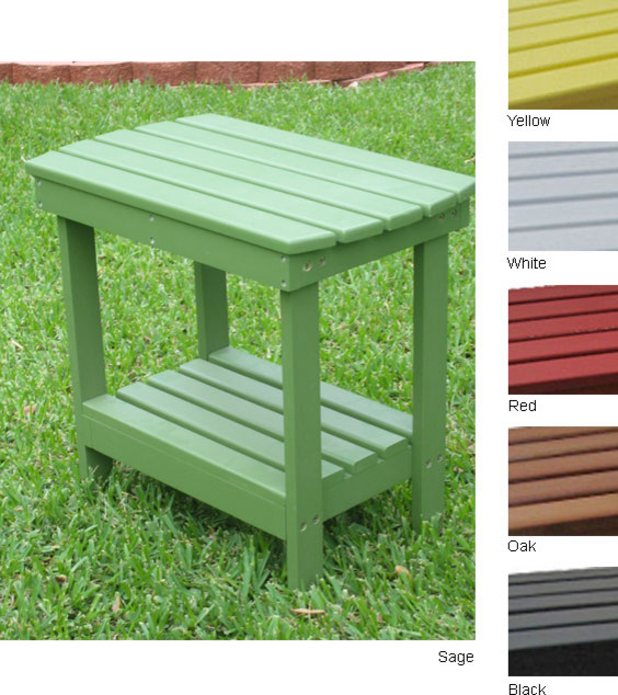 Wood Side Porch ~ Two tier indoor outdoor wood side table overstock