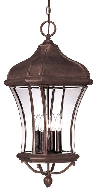 Savoy House Realto Outdoor Chain Hung Lighting Fixture in Walnut transitional-outdoor-hanging-lights
