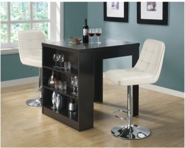 Monarch Cappuccino Counter Height Table modern-nightstands-and-bedside-tables