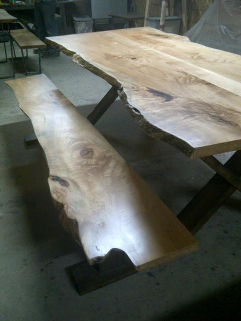 LIVE EDGE MAPLE HARVEST TABLE contemporary