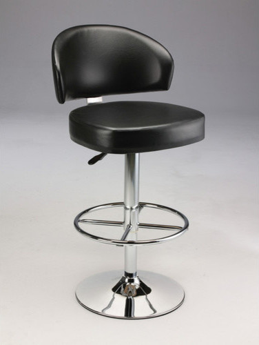 Padded Leatherette Barstool with Gas Lift modern-gas-ranges-and-electric-ranges