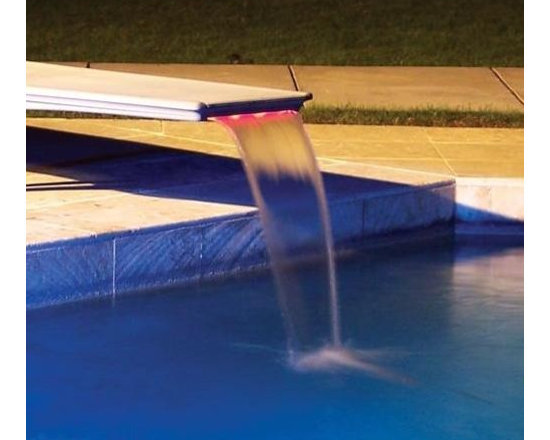 Inter-Fab T7 Edgewater Diving Board Waterfall with LED Lighting - -Transform a dull plank of a diving board into a beautiful water feature!
