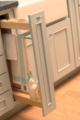 Pull-Out Kitchen Storage | Spice Rack & Knives | Dura Supreme Cabinetry