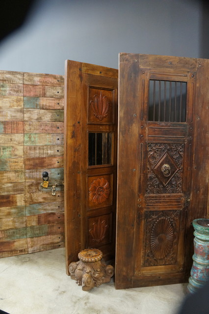 Inspiring collection of furniture and textiles. eclectic-front-doors