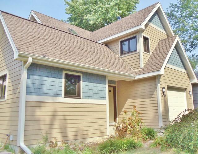 Hardie House With Blue Shingle Amp Tan Plank Siding