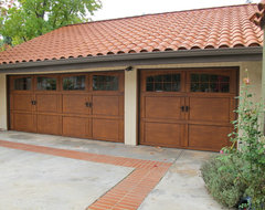 Non-Traditional Steel Garage Door from Dyers Garage Doors mediterranean garage doors