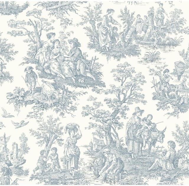 Waverly Wallpaper Wa7830 Country Life Toile Traditional