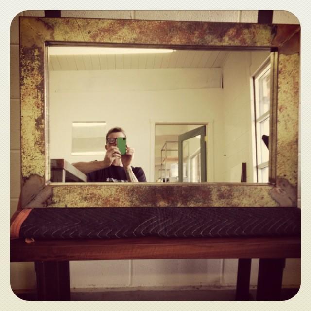 Rustic Foyer Mirror : Entryway mirrors