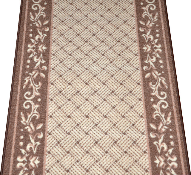 Scroll Border Carpet Runner Purchase By The Linear Foot Modern rugs