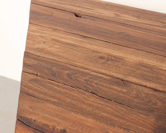 Vintage Tables - Vintage Wood and Steel Dining Table