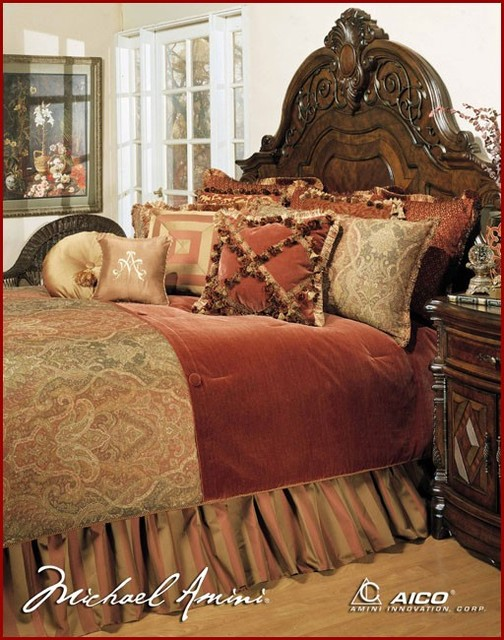 AICO Furniture - Bedding Set Woodside Park - AI-WDSPRK-SPI traditional-bedding