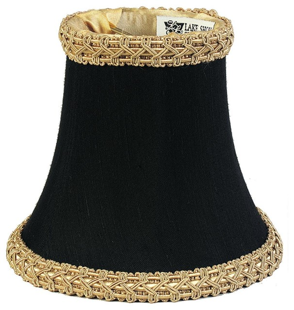 black silk with gold trim chandelier shade lamp shades. Black Bedroom Furniture Sets. Home Design Ideas