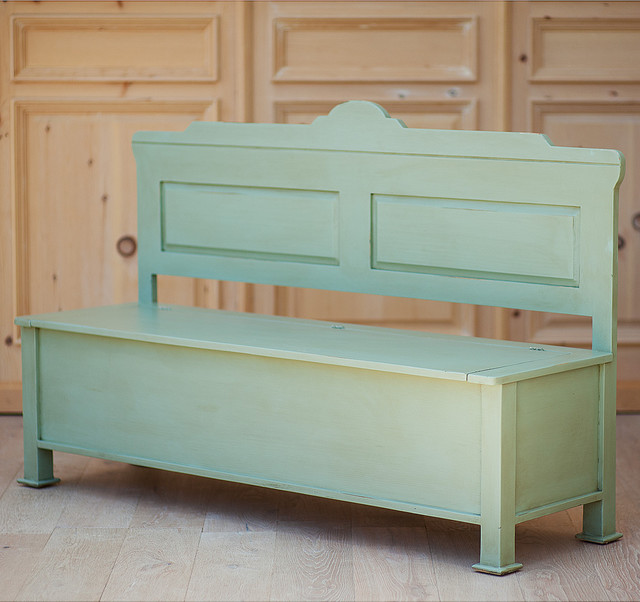 Hudson Dining Storage Bench Traditional Dining Benches New York By Coach Barn