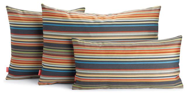 Modern Family Pillow Stripe : Maharam DWR Pillow in Ottoman Stripe Fabric designed by Paul Smith - Modern - Decorative ...