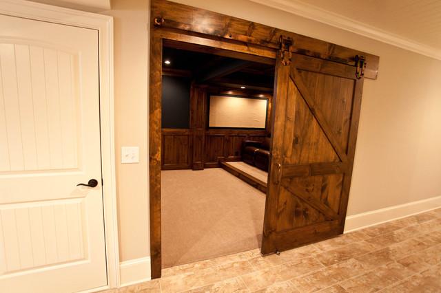 Sliding Theater Room Barn Door