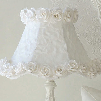 White Petals and Roses Lamp Shade traditional-kids-lamps