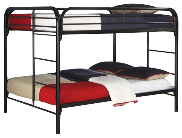 coaster rustic black metal full over full bunk bed transitional bunk beds by cymax. Black Bedroom Furniture Sets. Home Design Ideas