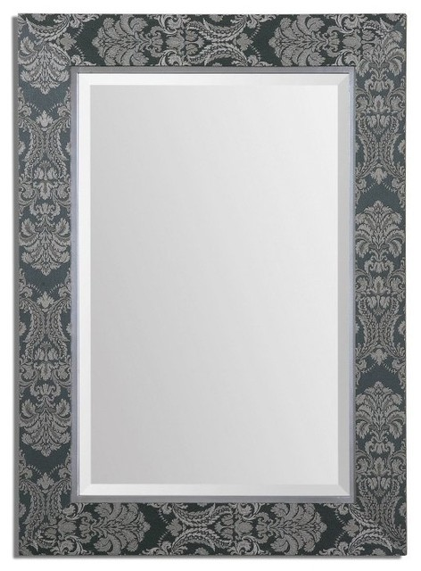Grace Feyock Celestine Dark Gray Wall Mirror X-08441 transitional-wall-mirrors