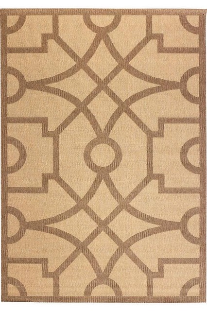 Martha stewart living fretwork all weather area rug for All weather patio rugs