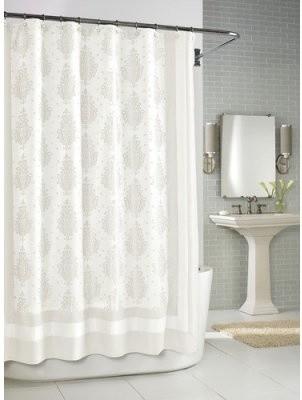 Kassatex Roma Shower Curtain White Modern Shower Curtains By Hayneedle