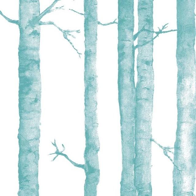 Aspen tree wallpaper tiles contemporary wallpaper for Aspen tree wall mural