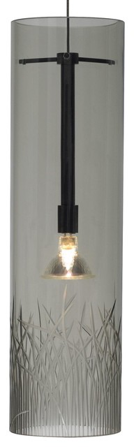 Lit Springview Pendant in Smoke traditional-pendant-lighting
