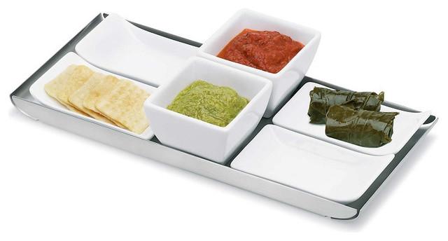 Esto 7-Piece Finger Food Set contemporary-platters