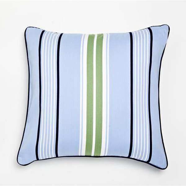 Modern Bedroom Pillows : Blue Preppy Stripe Decorative Pillow - Modern - Decorative Pillows - by Rosenberry Rooms