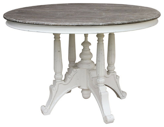 Cottage Round Dining Table Contemporary Dining Tables By Belle