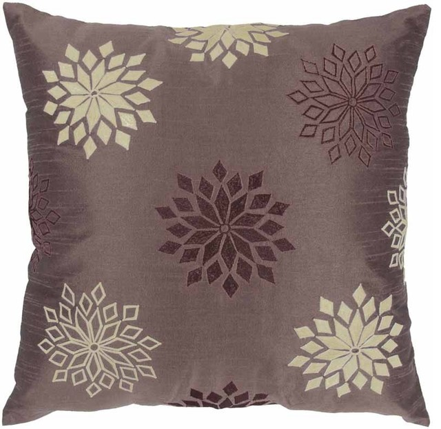 Rizzy Home - Plum and Off White Decorative Accent Pillows (Set of 2) - T03605 traditional-decorative-pillows