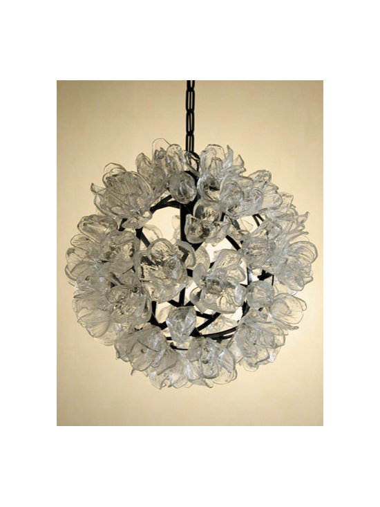 Elizabeth Lyons Glass Magnolia Chandelier -