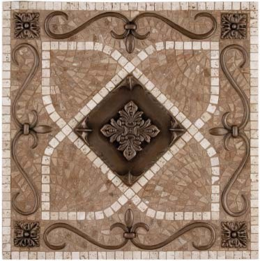 Handcrafted mosaic for kitchen backsplash traditional kitchen tile