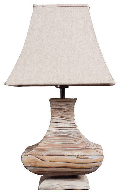Handmade wooden urn traditioal living room table lamp for Living room table lamps