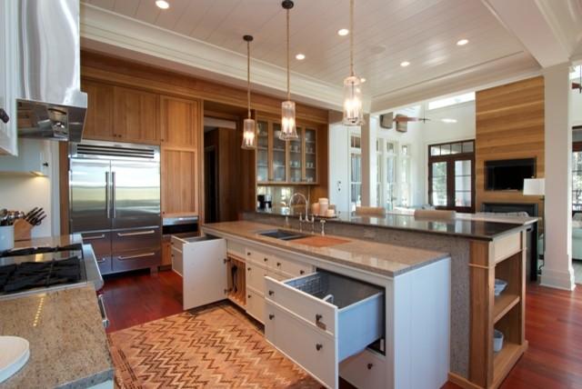 Kitchen cabinets two tiered island kitchen cabinetry - Two tier kitchen island ...