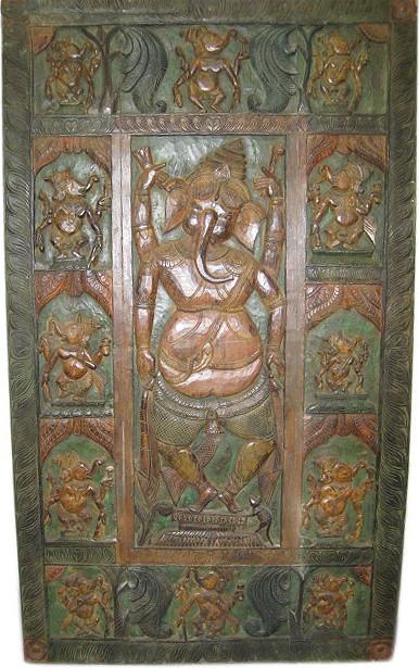 Ganesha Carved Doors - Asian - Interior Doors - other metro - by Mogulinterior