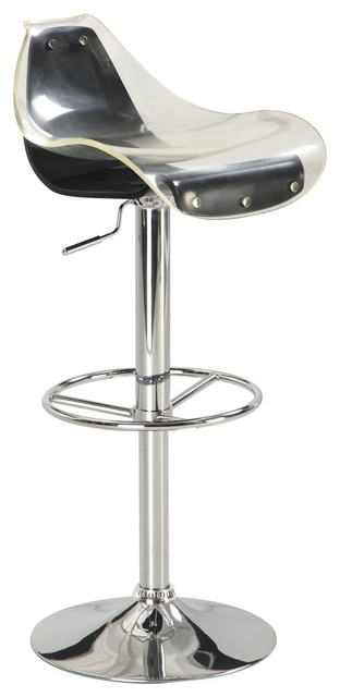 M250bs White Black Acrylic Chromed Adjustable Bar Stool