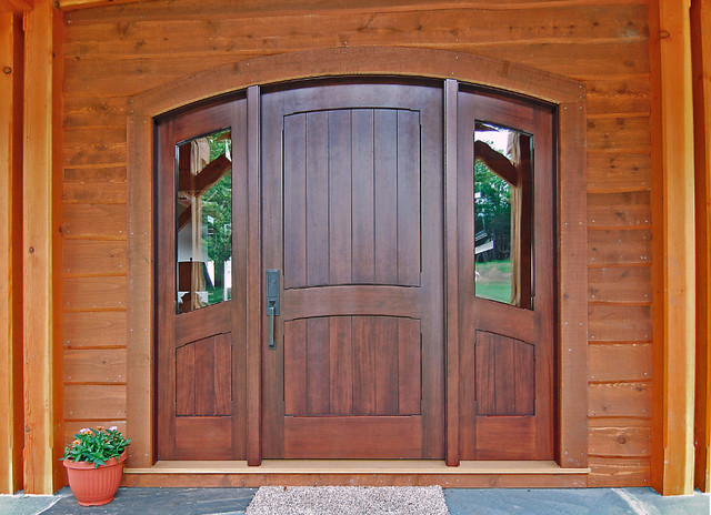 Newwoodworks custom doors for Front door frame designs