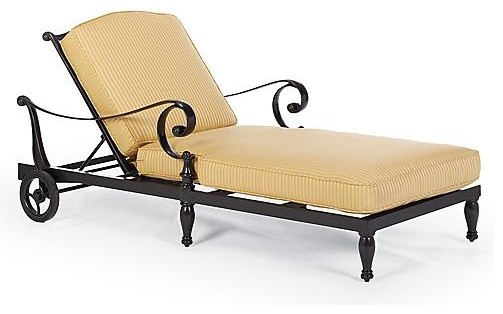 Marseilles Outdoor Chaise Cushions, Patio Furniture traditional-outdoor-pillows