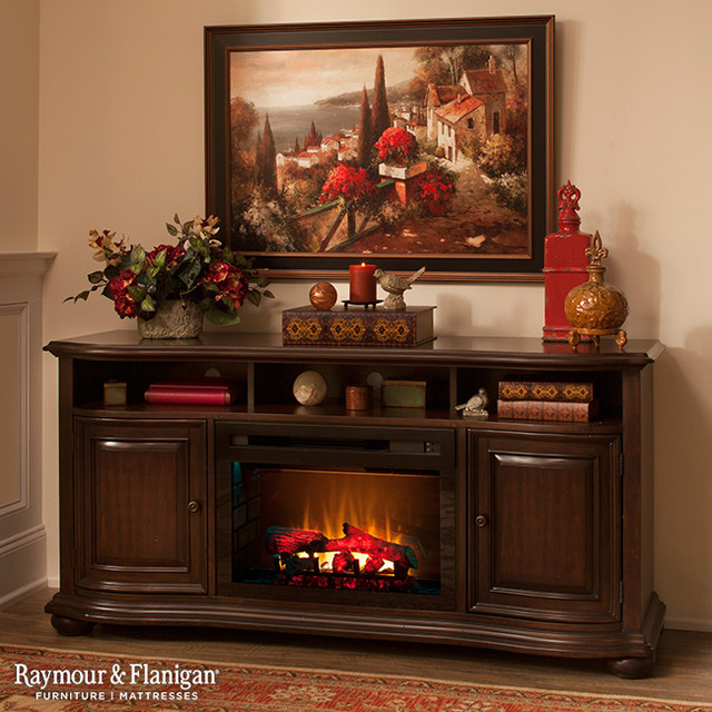 Henderson Tv Console W Electric Fireplace Living Room Other Metro By Raymour Flanigan