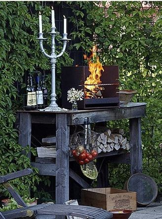 Cube Outdoor Grill eclectic-outdoor-grills